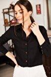 Kadın Siyah Uzun Kollu Düz Gömlek ARM-18Y001176
