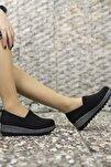 Kadın Siyah Simli Günlük Ayakkabı 001220