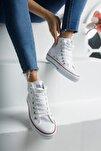 Unisex Beyaz Keten Ayakkabı Mgcrs37