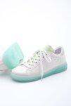 Kadın Yeşil Beyaz Sneaker Ayakkabı Riyo