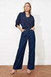 Lacivert Yüksek Bel Wide Leg Jeans TWOAW21JE0099