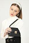 Kadın Siyah Mini Baget Çanta