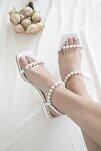Kadın Beyazİ nci Detay Topuklu Ayakkabı