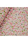 Pembe 170 cm Eninde Çiçekli Poplin Kumaş