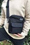 Siyah Omuz Ve Çapraz Askılı Çanta Unisex