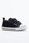 Siyah Çocuk Spor Ayakkabı Cırtlı Tb997