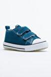 Petrol Çocuk Spor Ayakkabı Cırtlı Tb997