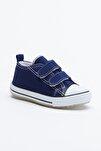 Lacivert Çocuk Spor Ayakkabı Cırtlı Tb997