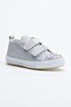 Gümüş Çocuk Spor Ayakkabı Cırtlı Tb997