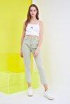 Haki Yüksek Bel Mom Jeans TWOSS21JE0172