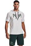 Erkek Spor Sweatshirt - UA PROJECT ROCK CC SS HD - 1361719-014