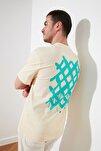 Sarı Erkek Sırt Baskılı Geniş Kesim T-Shirt TMNSS20TS1036