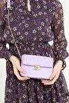 Kadın Mor Mini Baget Çanta