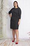 Kadın Siyah Bel Detaylı Elbise 65N22426