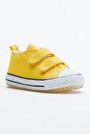 Sarı Çocuk Spor Ayakkabı Cırtlı Tb997