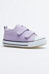 Lila Çocuk Spor Ayakkabı Cırtlı Tb997