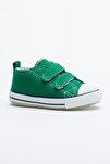 Yeşil Çocuk Spor Ayakkabı Cırtlı Tb997