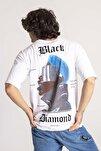 Beyaz Önü & Arkası Baskılı Oversize T-Shirt 1KXE1-44660-01