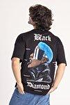 Siyah Önü & Arkası Baskılı Oversize T-Shirt 1KXE1-44660-02