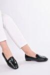 Kadın Siyah Rugan Loafer Ayakkabı Munle