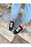 Kadın Siyah Sando Spor Ayakkabı