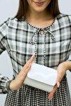 Kadın Minik Beyaz Portföy Çanta
