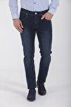 Desenli Slim Fit Lacivert Pantolon 29152020B001