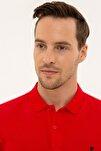 Erkek Koyu Kırmızı Slim Fit Polo Yaka T-Shirt