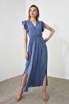 Indigo Kolları Volanlı Elbise TWOSS20EL1918