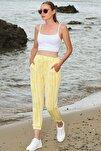 Kadın Sarı Paçası Lastikli İki İplik Eşofman Altı ALC-Y2933