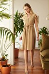 Camel Bağlama Detaylı Elbise TWOSS20EL0981