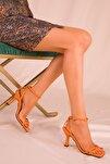 Turuncu Kadın Klasik Topuklu Ayakkabı 15834
