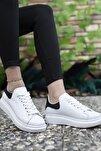 Kadın Beyaz Siyah Sneaker 0012201