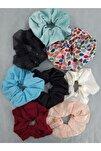 Kadın  Renkli Toka Seti 8 li