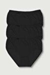 Kadın Siyah Bato Külot 3lü Paket
