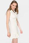 Kadın Kemık Kolsuz Blazer Elbise 5132-891