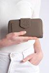 Kadın Vizon Telefon Bölmeli Cüzdan Tenir