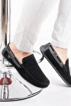Erkek Siyah Süet Loafer Ayakkabı
