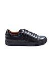 Siyah El Yapımı Deri Sneakers