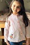 U/k Bebe Yaka Nervürlü Gömlek