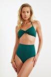 Yeşil Yüksek Bel Bikini Altı TBESS21BA0070