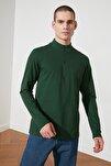 Zümrüt Yeşili Erkek Uzun Kollu Slim Fit T-Shirt TMNSS20TS0017