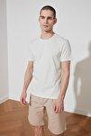 Mint Basic Erkek T-Shirt - Pamuklu Kısa Kollu Bisiklet Yaka Slim Fit T-Shirt TMNSS19BO0001