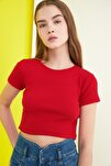 Kırmızı Örme Bluz TWOSS21BZ0779