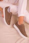 Vizon Süet Kadın Sneaker 14395