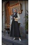 Kare Desen 3'lü Jile Desen Kombin Elbise