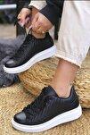Kadın Siyah Dikişli Spor Ayakkabı