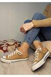 Kadın Hardal Keten Casual Spor Ayakkabı