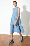 Açık Mavi Geniş Kesim Elbise TWOSS20EL1864