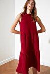 Bordo Geniş Kesim Elbise TWOSS20EL1864